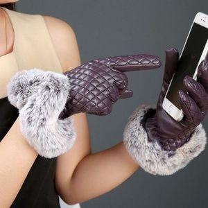 Elegant Women Leather Gloves